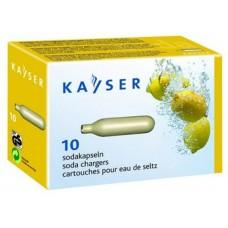 Баллончик для сифона для газирования воды CO2 1уп./10шт., Kayser (Австрия) cod.37510