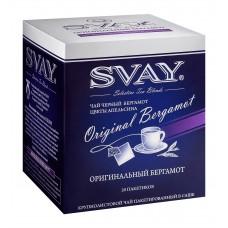 Черный чай в саше на чашку Svay Original Bergamot, 20 саше по 2гр.