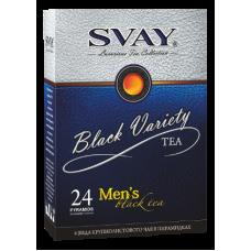 Подарочный набор чая Svay Black Variety Men's, 24 пирамидки