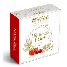 Подарочный набор чая Svay Christmas berries, 24 пирамидки