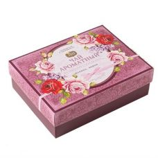 Шкатулка Серия «Ароматный чай» малина-вишня, 40 пирамидок